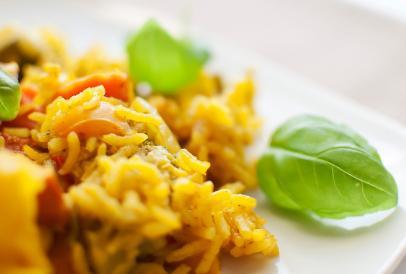 Risotto aux légumes et curcuma